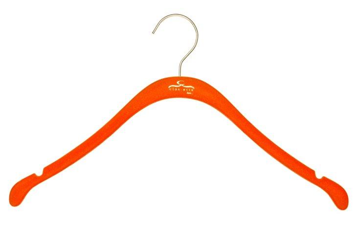 S/30 Slim Shirt Hangers, Orange/Brass