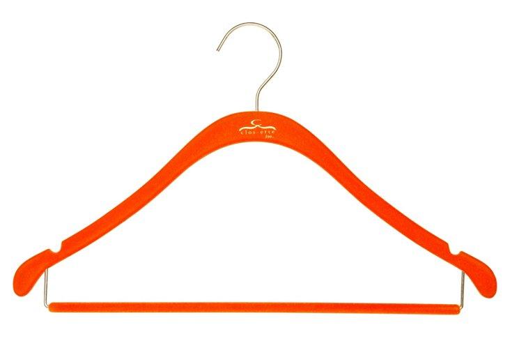 S/20 Shirt Hangers w/ Bars, Orange/Brass
