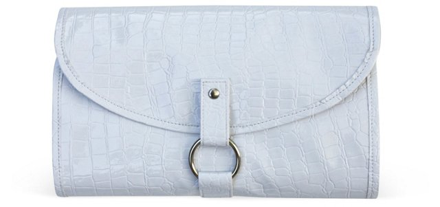 White Travel Cosmetic Case, Small