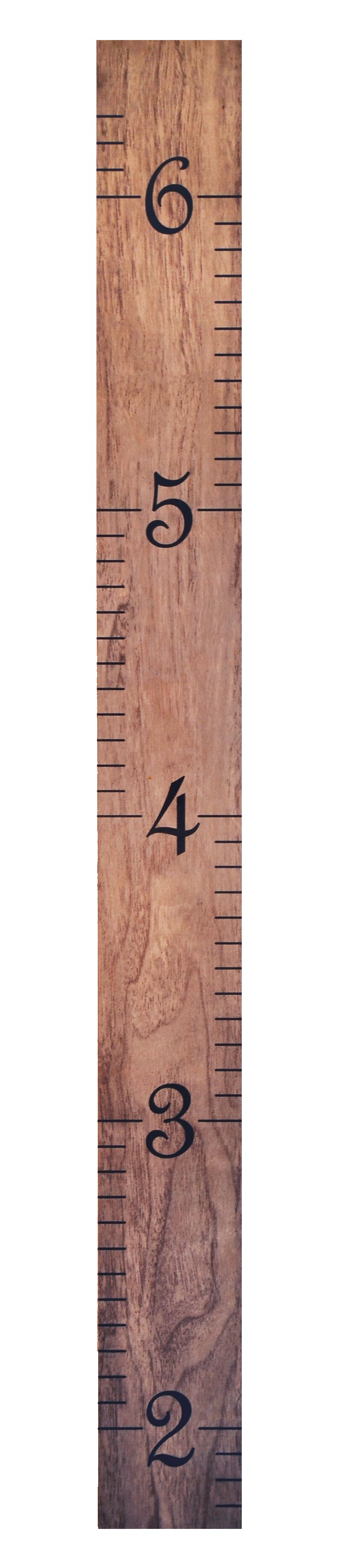 Ruler Growth Chart, Driftwood Gray