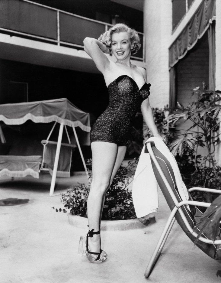 Marilyn Monroe Poolside Lithograph