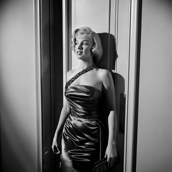 Marilyn Against Wall Lithograph