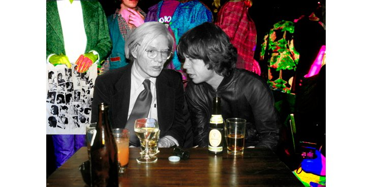 Mick Jagger & Andy Warhol, Colorized
