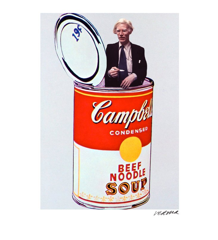 Verona, Andy Warhol (in soup can) Print