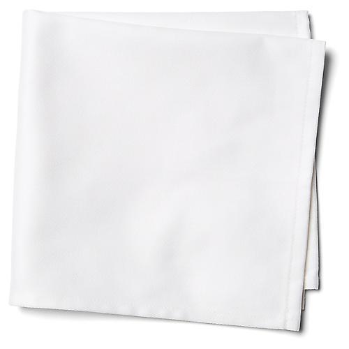 S/12 Confettis Dinner Napkins, White