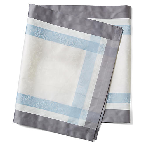 S/4 Bagatella Soie Table Runners, White/Blue