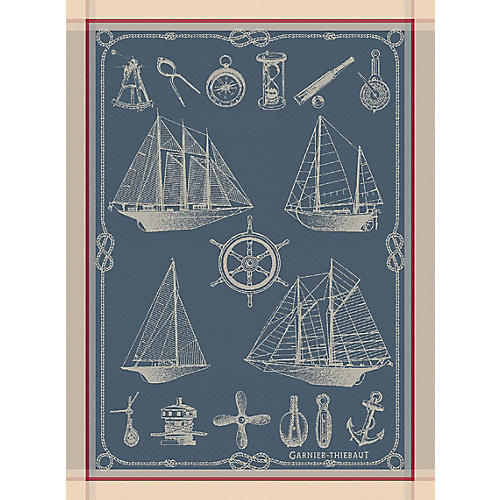 S/4 Yanez Dish Towels, Blue/Multi