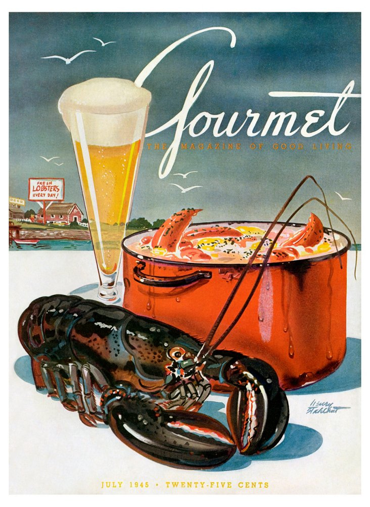 Framed Gourmet Cover, July 1945