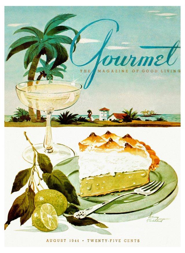 Framed Gourmet Cover, August 1944