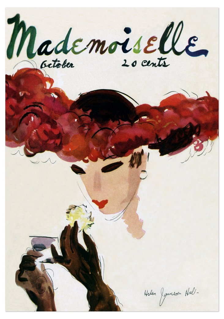 Hall, Mademoiselle Cover, 1935