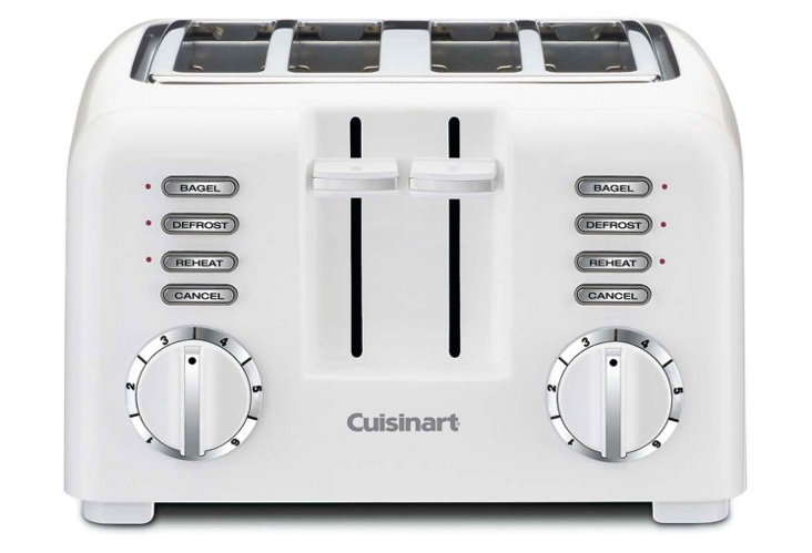 Compact 4-Slice Toaster, White