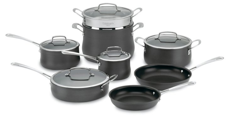 13-Pc Contour Anodized Cookware Set