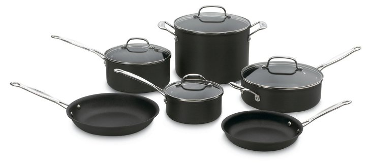 10-Pc Chef's Classic Cookware Set, Black