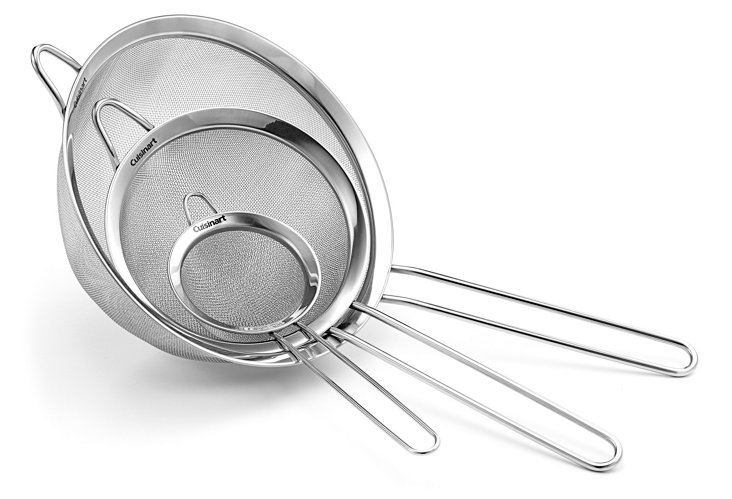 3-Pc Stainless Steel Strainer Set