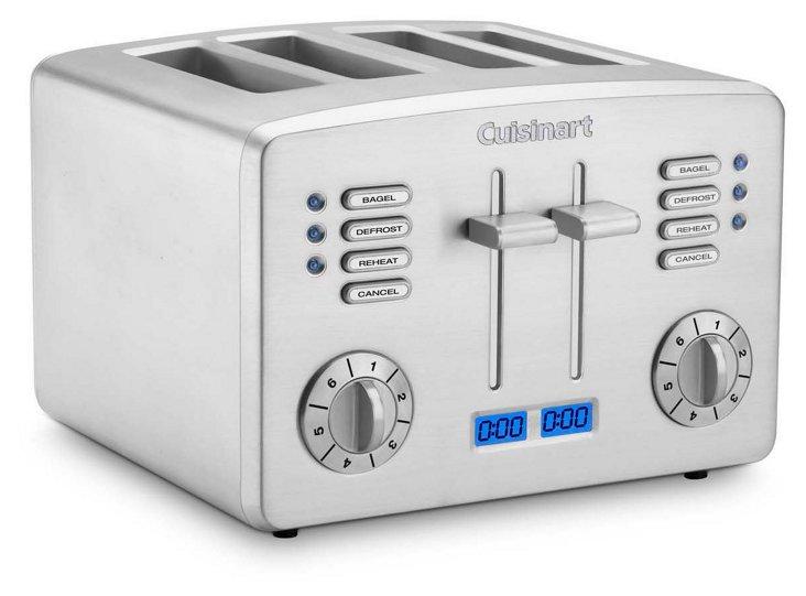4-Slice Classic Metal Toaster