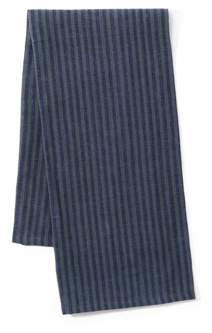S/2 Khadhi Towels, Charcoal/Denim