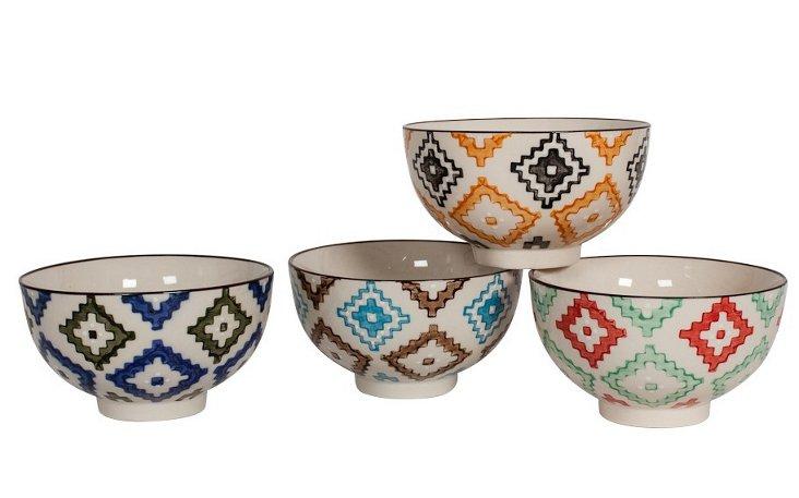 S/4 Assorted Questa Bowls