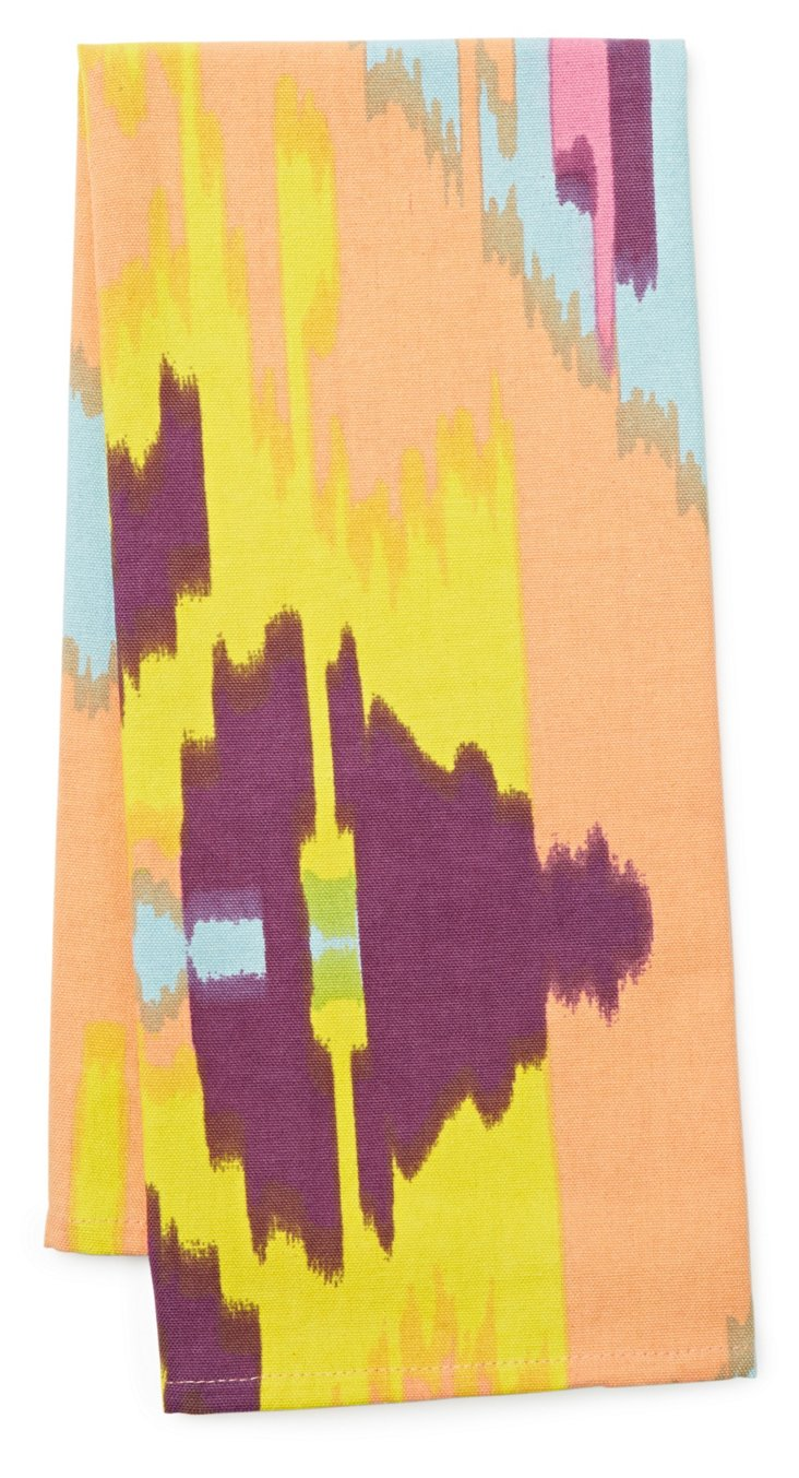 S/3 Ikat Tea Towels, Multi