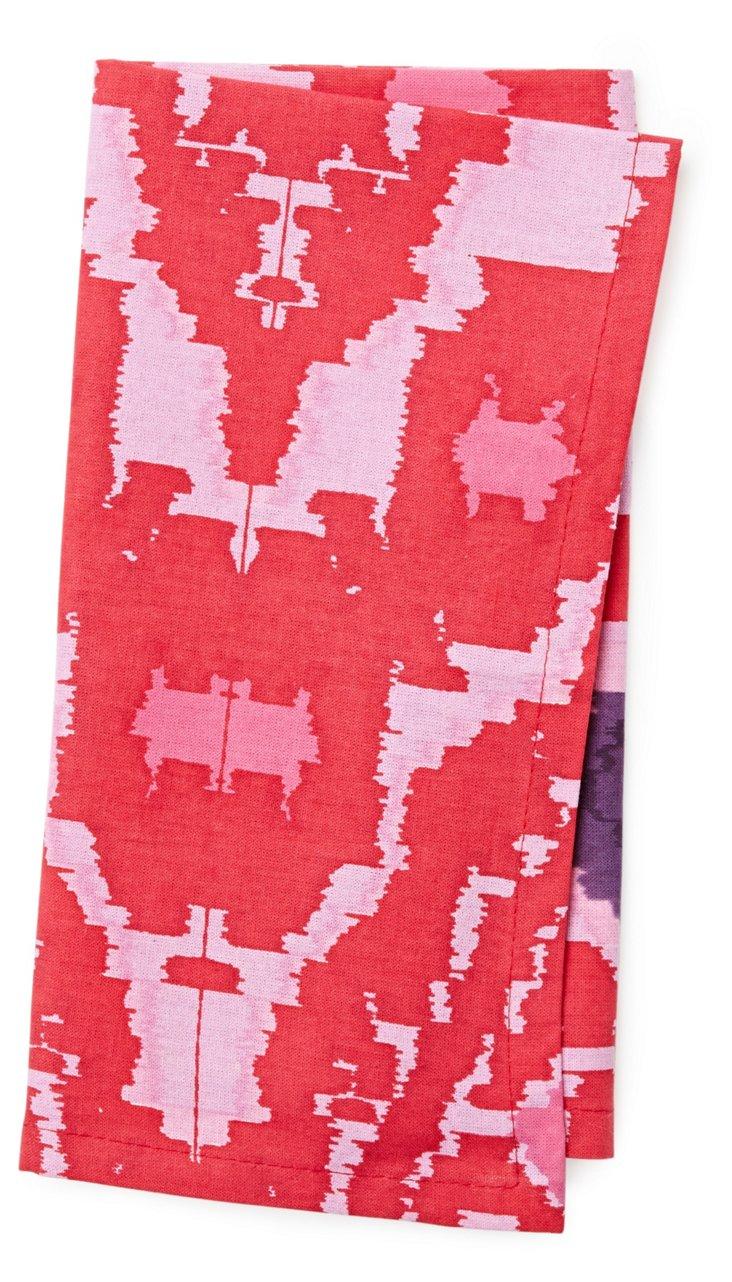 S/4 Ikat Napkins, Pink