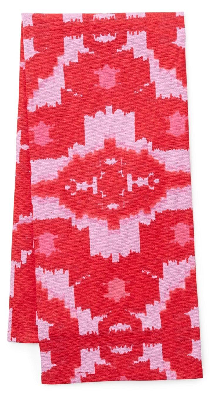 S/3 Ikat Tea Towels, Pink