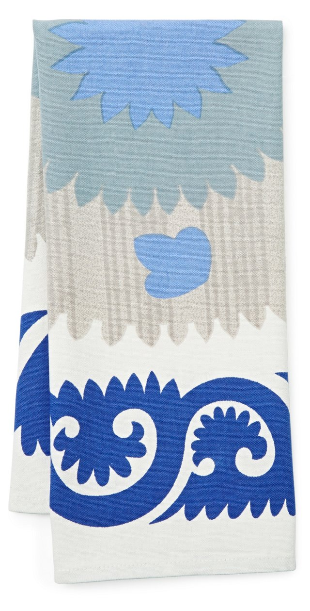 S/3 Blue Suzani Tea Towels