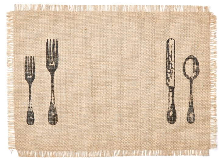 S/4 Cutlery Place Mats, Natural