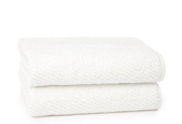 Set of 2 Quick-Dry Hand Towels, White