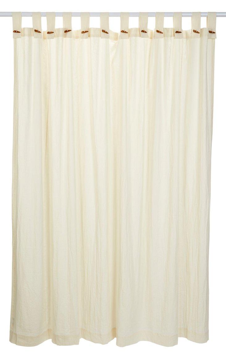 Seersucker Shower Curtain, Ivory