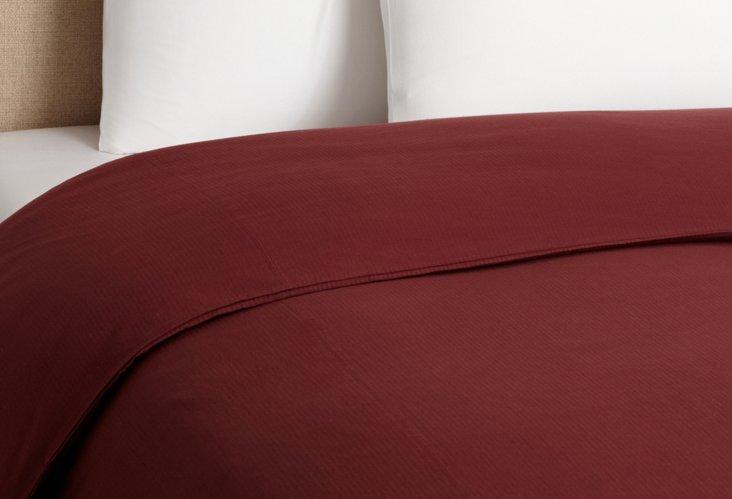 Seersucker Duvet Cover, Mulberry