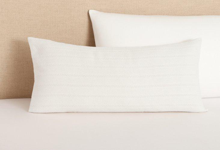 Aspen Weave Dec Pillow, White
