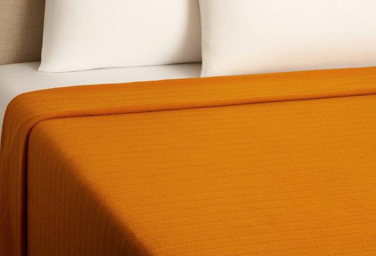 Aspen Weave Blanket, Tangerine