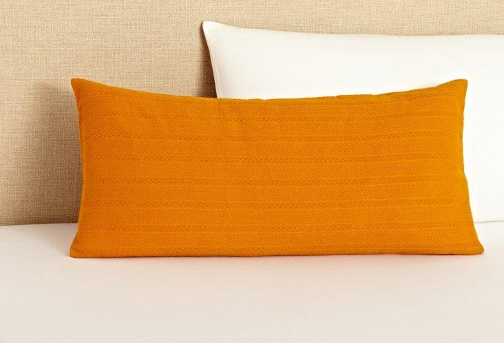 Aspen Weave Dec Pillow, Tangerine