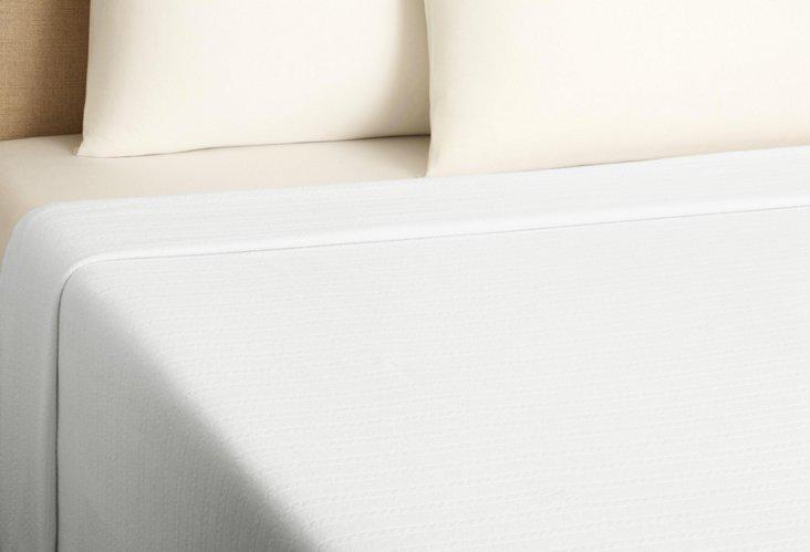 Aspen Weave Blanket, White