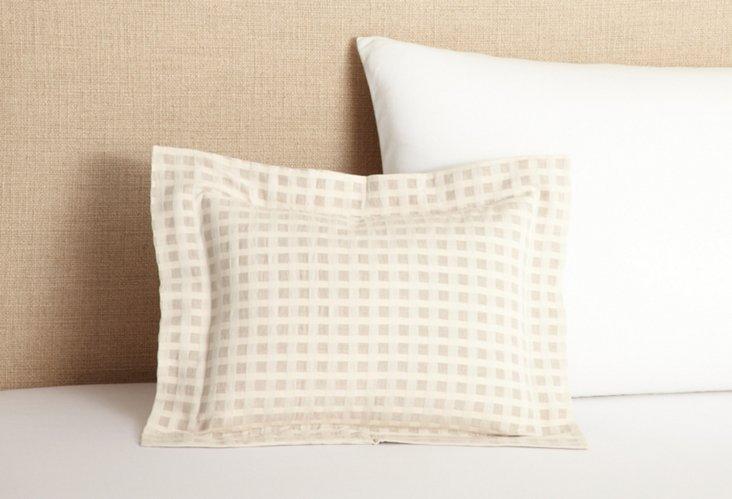 Birch Cotton/Linen Boudoir Sham, Natural