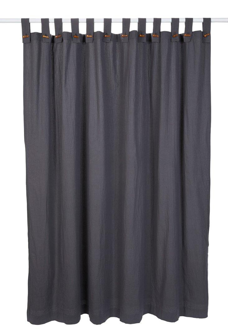 Seersucker Shower Curtain, Charcoal