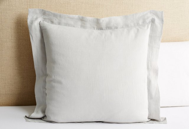 Relaxed Linen Euro Sham, Pewter