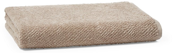 Air Weight Bath Towel, Taupe