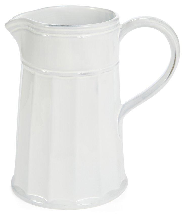 Hand-Glazed Pitcher, White