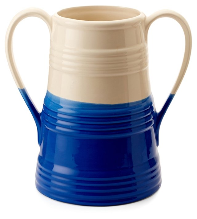 """12"""" Dipped Paint Urn, Navy"""