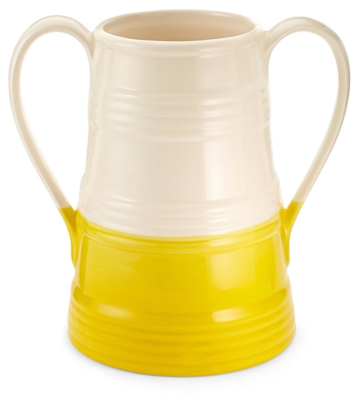 "14"" Dipped Urn, Yellow"