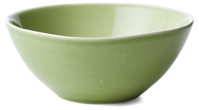 S/3 Hand-Painted Nut Bowls, Green