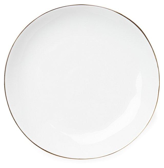 S/4 Gold-Rimmed Dinner Plates