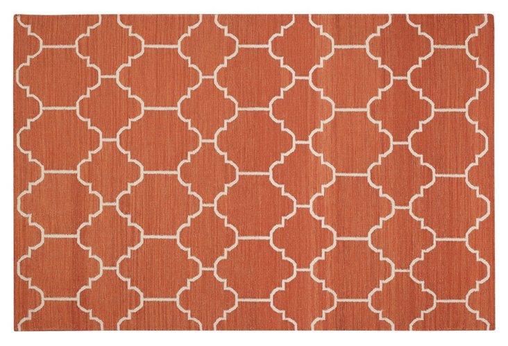 Arabesque Flat-Weave Rug, Saffron