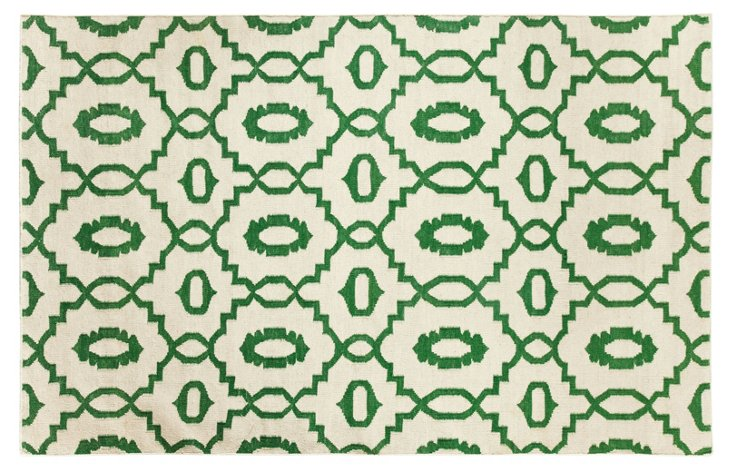 Moor Flat-Weave Rug, Emerald