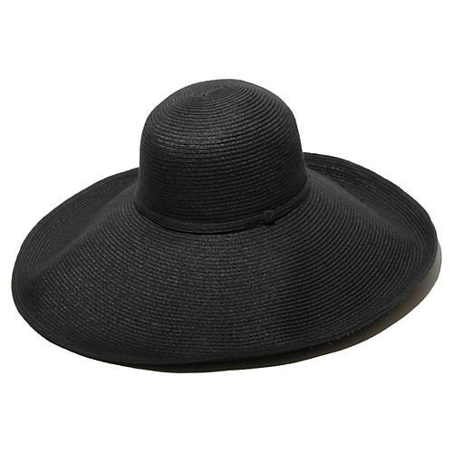 Belladonna Straw Hat, Black