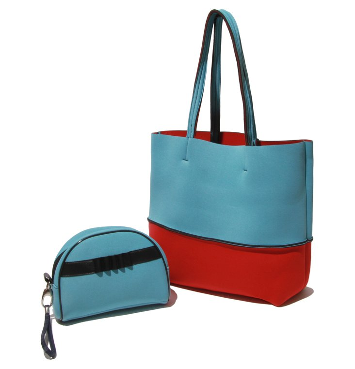 Oceanaire Tote Bag Set, Red/Turquoise