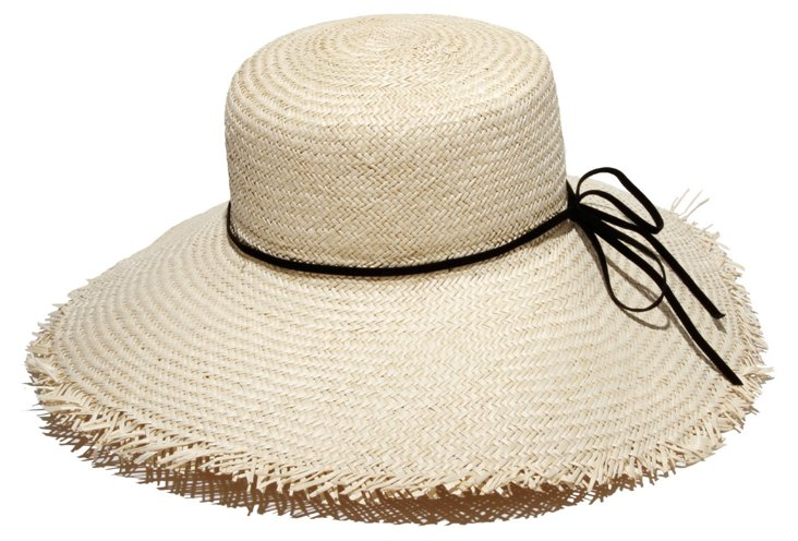 Beachcomber Leather Trim Hat, Natural