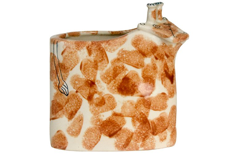 Giraffe Trash Can