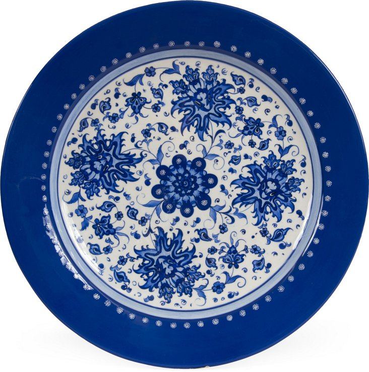 Large Blue & White Plate