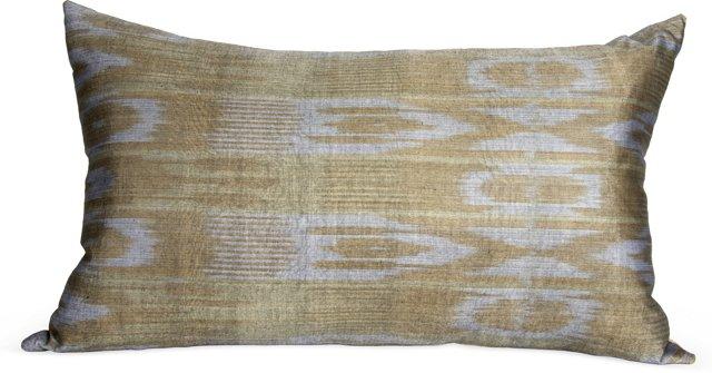 Neutral Ikat Pillow